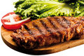Grilled Sirloin Steak on Board Royalty Free Stock Photos