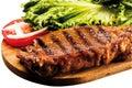 Grilled Sirloin Steak on Board Royalty Free Stock Photo