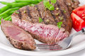 Grilled Steak. Barbecue Stock Images