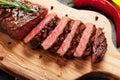 Grilled striploin steak Royalty Free Stock Photo