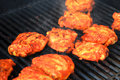 Grilled tandoori style chicken on the grill Stock Photos