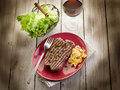 Grilled tenderloin with mushroom Royalty Free Stock Photography
