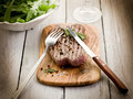 Grilled tenderloin with pepper Royalty Free Stock Photography