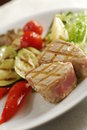 Grilled tuna Stock Photography