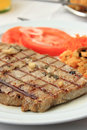 Grilled Tuna steak Royalty Free Stock Images