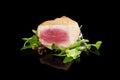 Grilled tuna steak. Royalty Free Stock Photo