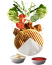 Grilled Turkish Doner Kebab Stock Photos