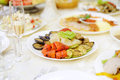 Grilled vegetables plate with at restaurant Royalty Free Stock Image