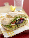 Grilled vegetables sandwich Royalty Free Stock Image