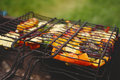 Grilled vegetables. Summer barbecue. Royalty Free Stock Photo