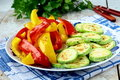 Grilled vegetables - zucchini, pepper paprika Royalty Free Stock Image