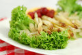 Grilled white asparagus salad Royalty Free Stock Images