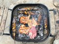 Grilling at summer weekend. Royalty Free Stock Photo