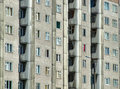 Grim apartment block in Russia Stock Image