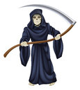 Grim reaper death skeleton an illustration of a character holding a scythe Royalty Free Stock Photos