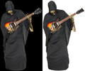 Grim Reaper Play Guitar Isolated Royalty Free Stock Photo