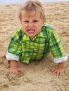 Grimacing boy Stock Images