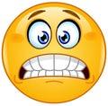 Grimacing emoticon Royalty Free Stock Photo
