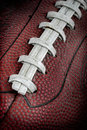 Grimy Old Football Closeup Royalty Free Stock Photo
