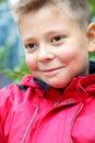 Grina för pojke Royaltyfri Fotografi