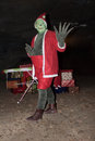 The grinch is greeting you Royalty Free Stock Photography