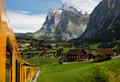 Grindelwald Village in Berner Oberland Royalty Free Stock Photo