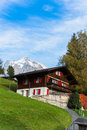 Grindelwald village jungfrau area of switzerland Royalty Free Stock Image