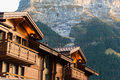 Grindelwald village jungfrau area of switzerland Royalty Free Stock Photography