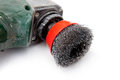 Grinding disc polishing brush angle grinder Royalty Free Stock Photography