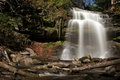 Grindstone falls in smokey hollow waterdown on canada Royalty Free Stock Photo