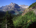 Grinnell Lake & Mt. Gould Royalty Free Stock Photo