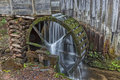 Grist Mill Water Wheel In Cades Cove Royalty Free Stock Photo