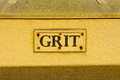 Grit bin a closeup to a storage container Stock Photos