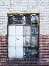 Gritty Warehouse Window Stock Image