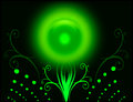 Grön sun Royaltyfria Bilder