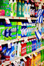 Grocery Aisle: Cleaning Supplies Stock Image