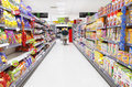 Grocery shopping aisle Royalty Free Stock Photo