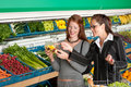 Grocery store - Two business women Royalty Free Stock Photo