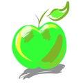 Groen apple Stock Afbeelding