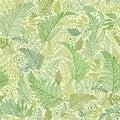Groen fern leaves seamless pattern background Royalty-vrije Stock Foto