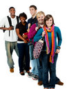 image photo : Group of multi-racial college students