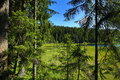 Großer arbersee is a lake in bayerischer wald bavaria germany at an elevation of m its surface area ha Stock Photography