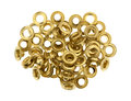 Grommets on a white background Royalty Free Stock Photo