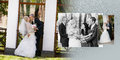 Groom and the bride the best man with the witness during walk in their wedding day collage men Royalty Free Stock Photo