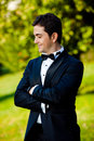 Groom portrait Stock Images