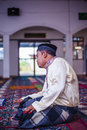 The groom praying a malay performing a prayer after solemnization Royalty Free Stock Image