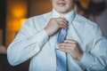 Groom is preparing for the wedding dues Royalty Free Stock Photo