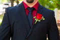 Groom tuxedo attire a wearing a fancy on his wedding day ready to get hitched Stock Photos