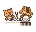 Grooming pets logo