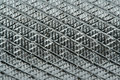 Grooved metal surface Royalty Free Stock Photo